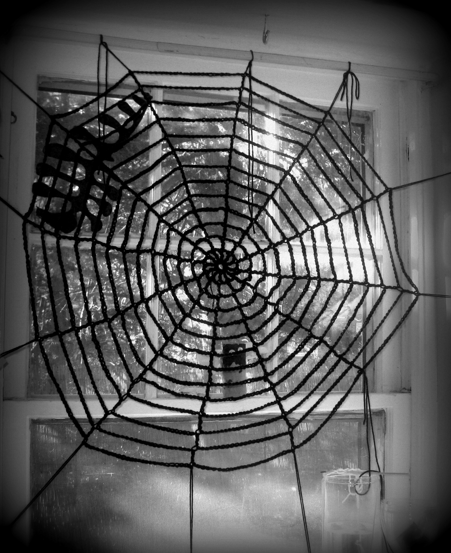 Spider Web Halloween Decorations: Crochet Pattern For Spider Web Afghan